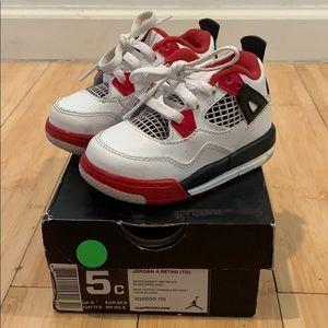 Shoes - Toddler jordan 4 retro size 5c